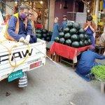 covid 19 spray in abbottabad mandi main bazar